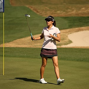 Stephanie Kono on Tuesday during a practice round of RR Donnelley LPGA Founders Cup at Wildfire at Desert Ridge.