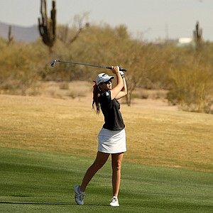 Paula Creamer on Tuesday during a practice round of RR Donnelley LPGA Founders Cup at Wildfire at Desert Ridge.