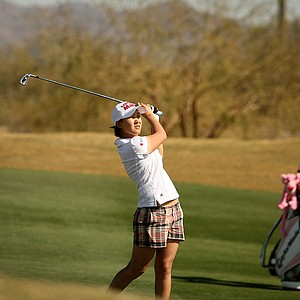 Hannah Yun on Tuesday during a practice round of RR Donnelley LPGA Founders Cup at Wildfire at Desert Ridge.