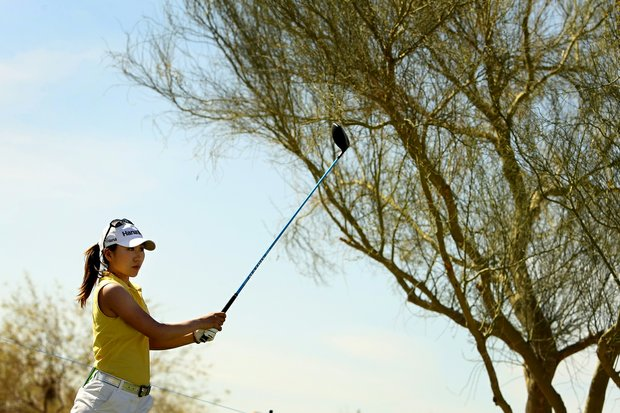 I. K. Kim of South Korea on Tuesday during a practice round of RR Donnelley LPGA Founders Cup at Wildfire at Desert Ridge.