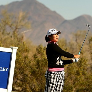Tiffany Joh on Tuesday during a practice round of RR Donnelley LPGA Founders Cup at Wildfire at Desert Ridge.