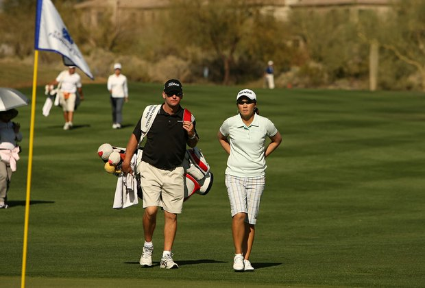 Candie Kung of Taiwan Tuesday during a practice round of RR Donnelley LPGA Founders Cup at Wildfire at Desert Ridge.