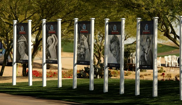 Signage honoring the founders on Tuesday during a practice round of RR Donnelley LPGA Founders Cup at Wildfire at Desert Ridge.