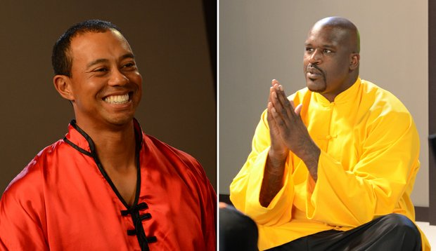 "Tiger Woods and Shaquille O'Neal took part in a recent EA Sports commercial shoot for ""Tiger Woods PGA Tour 13."""