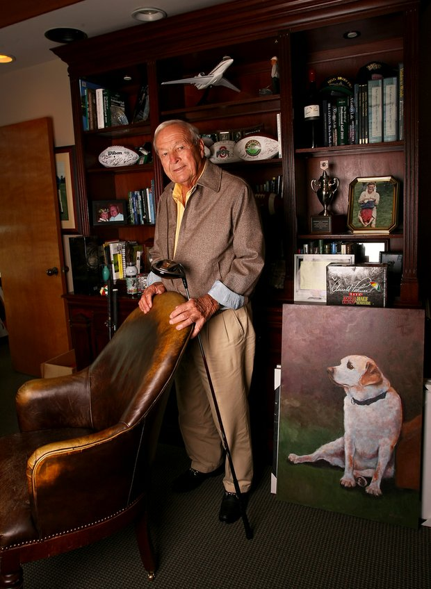 Arnold Palmer photographed in his office at Bay Hill Club and Lodge.
