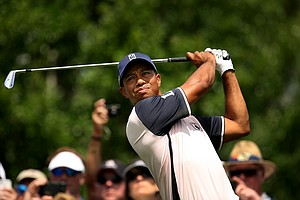 Tiger Woods on Tuesday during the 2012 Tavistock Cup at Lake Nona Golf and Country Club.
