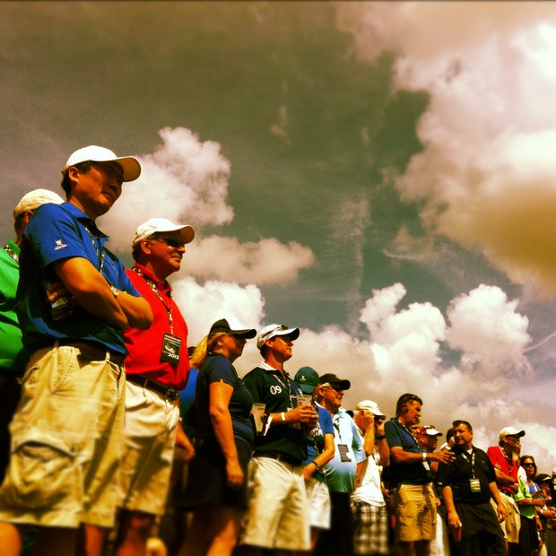 A crowd shot processed through Instagram on the Iphone on Tuesday during the 2012 Tavistock Cup at Lake Nona Golf and Country Club.