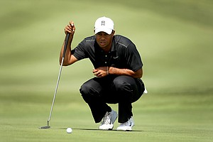 Tiger Woods during the first round of the Arnold Palmer Invitational where he posted a 69.