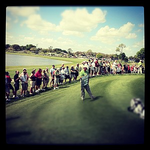 An Instagram photo of the crowd between hole No. 5 and 6 during the first round.