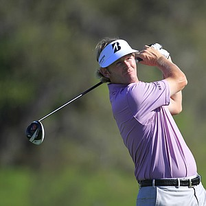 Brandt Snedeker hits a shot from the 16th tee during the second round of the Arnold Palmer Invitational.