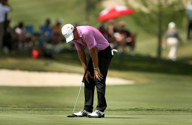 Charles Howell III reacts to a missed putt at No. 6 during the third round.