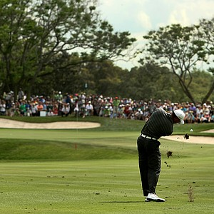 Tiger Woods at No. 8 during the third round of the Arnold Palmer Invitational.
