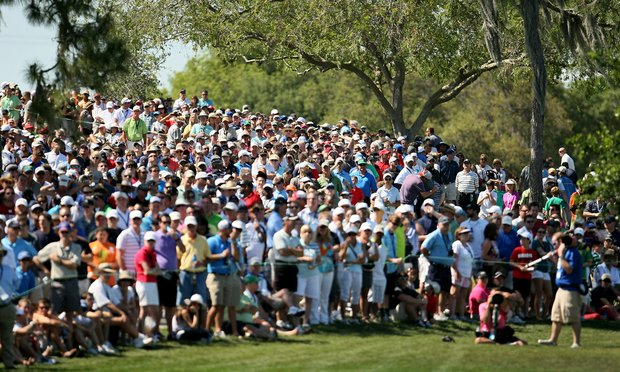Large crowds watch Tiger from No. 7 green and 6 fairway during the the final round of the Arnold Palmer Invitational.