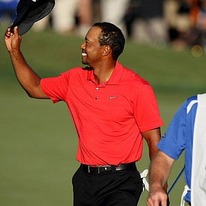 Tiger Woods after winning the Arnold Palmer Invitational at Bay Hill Club and Lodge.