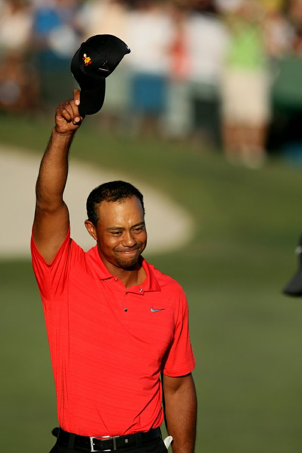 Tiger Woods after winning the 2012 Arnold Palmer Invitational at Bay Hill Club and Lodge.