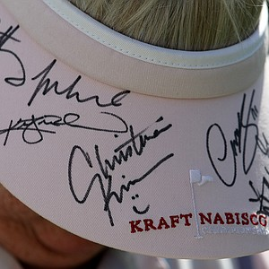 A spectator's hat during the pro-am on Wednesday.