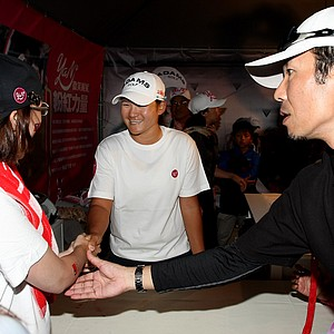 Yani Tseng during a meet and greet after Saturday's round of the inaugural 2011 Sunrise LPGA Taiwan Championship.