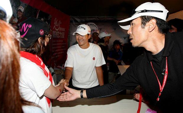 Yani Tseng during a meet and greet after Saturday's round of the inaugural 2011 Sunrise LPGA Taiwan Championship.