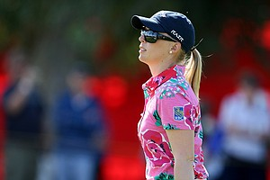 Morgan Pressel on Thursday at the Kraft Nabisco Championship.