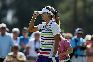 Lexi Thompson at No. 9 on Thursday at the Kraft Nabisco Championship.