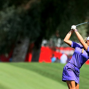 Natalie Gulbis at No. 9 on Thursday at the Kraft Nabisco Championship.