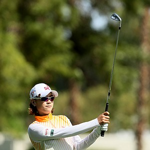 Na Yeon Choi at No. 1 on Thursday at the Kraft Nabisco Championship.