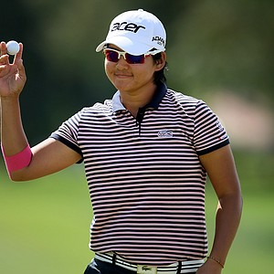 Yani Tseng as she makes the turn on Thursday at the Kraft Nabisco Championship.
