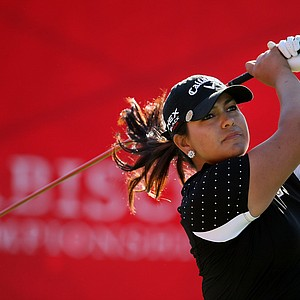 Former University of Southern California golfer, Lizette Salas at No. 1 on Friday at the Kraft Nabisco Championship.