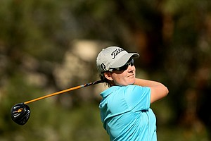 Lindsey Wright at No. 10 on Friday at the Kraft Nabisco Championship.
