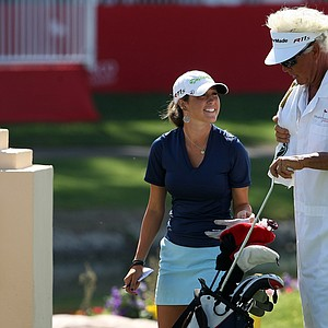 Jaye Marie Green and her father/caddie Donnie finished 2-under on Saturday at the Kraft Nabisco Championship.