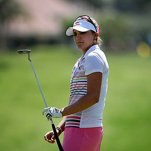 Lexi Thompson had five birdies on the front nine on Saturday at the Kraft Nabisco Championship.