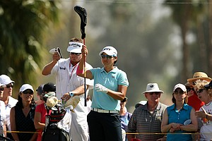 Yani Tseng at No. 7 on Saturday at the Kraft Nabisco Championship.