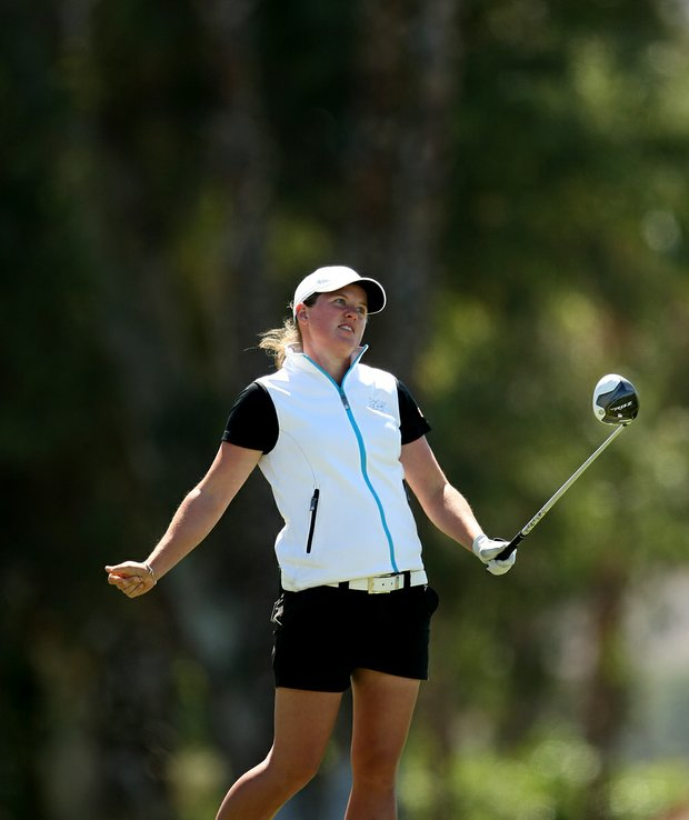 Karin Sjodin during the final round of the Kraft Nabisco Championship.