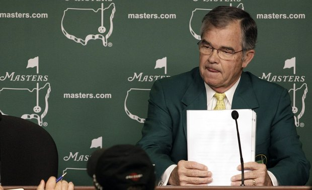Billy Payne during a Wednesday news conference.