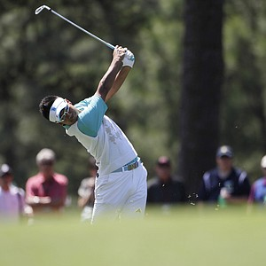 Amateur Hideki Matsuyama, of Japan, during the third round of the Masters.