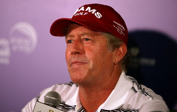 Michael Allen during his press conference for the Champions Tour Event - Liberty Mutual Insturance Legends of Golf at Westin Savannah Harbor Golf Resort and Spa.