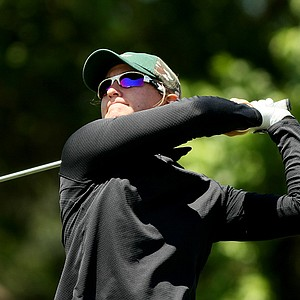 Christina Miller of University of South Florida during the Big East Women's Championship at Reunion Resort. Miller posted the low round of a windy day with a 73.