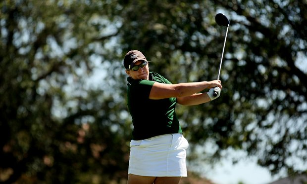 Amy West of the University of South Florida during the final round of the Big East Women's Championship at Reunion Resort.