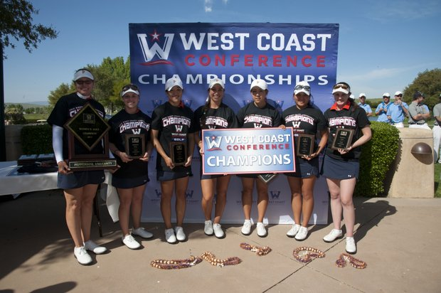 Pepperdine's women with an 11th straight West Coast Conference title.