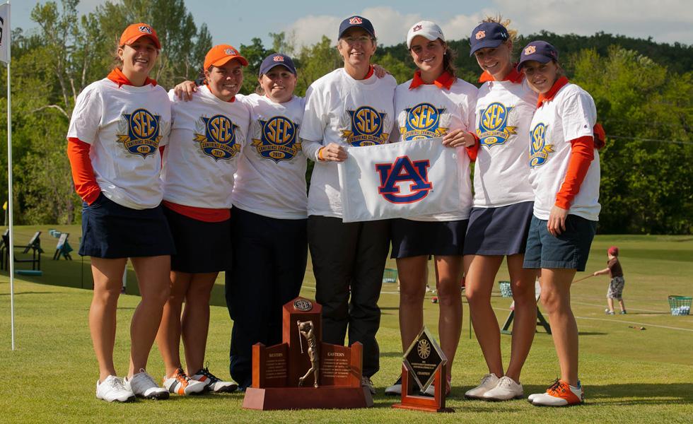 The Auburn women after winning the SEC title.