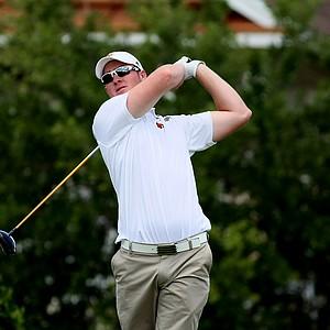 Louisville's Justin Dorward at No. 8 during the Big East Men's Championship at Reunion Resort.