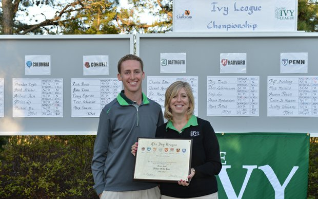 Dartmouth's Peter Williamson after winning the 2011-12 Ivy League Championship