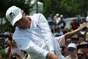 Gary Player is looking a lot younger than his 76 years of age at the Houston Greats of Golf Challenge.