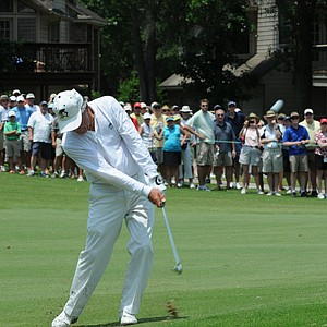Gary Player with his classic swing at the Houston Greats of Golf Challenge.