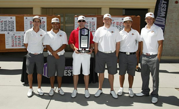 San Diego State's men after winning the Mountain West Conference Championship.
