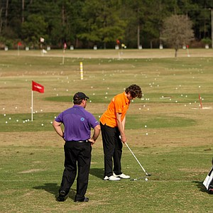 The range at Mission Hills, where Gary Gilchrist often works with students at his junior golf academy.