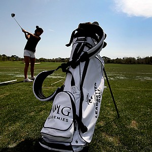 A student on the range at the IMG Golf Academy.