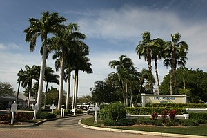 The entrance IMG Academies in Bradenton, Fla.