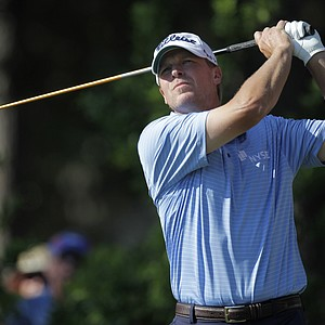 Steve Stricker hits from the 12th tee during the second round of the Players Championship.