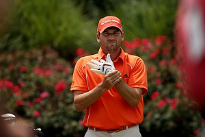 Sergio Garcia at No. 18 on Saturday at The Players Championship at TPC Sawgrass. Garcia finished Saturday with a 68.